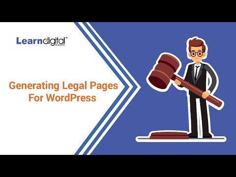 How to Generate legal web pages | Generating Leagal pages for website | Learn Digital Academy 2021