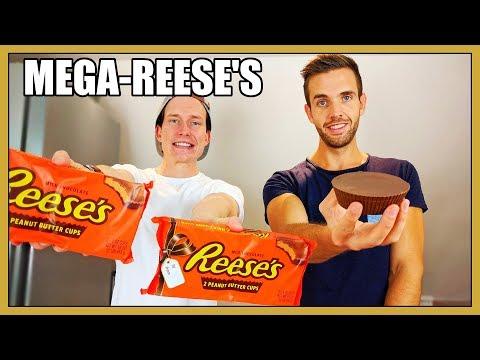 Vi äter JÄTTE-Reese's peanut butter cups