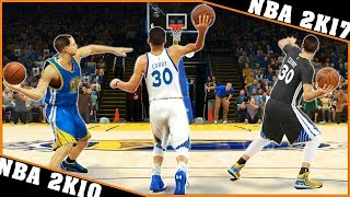 STEPHEN CURRY long distance shots [NBA 2K10 - NBA 2K17] 🏀