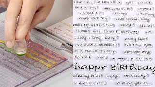 How to Create Sentiment Backgrounds with Word Stamps for Cards
