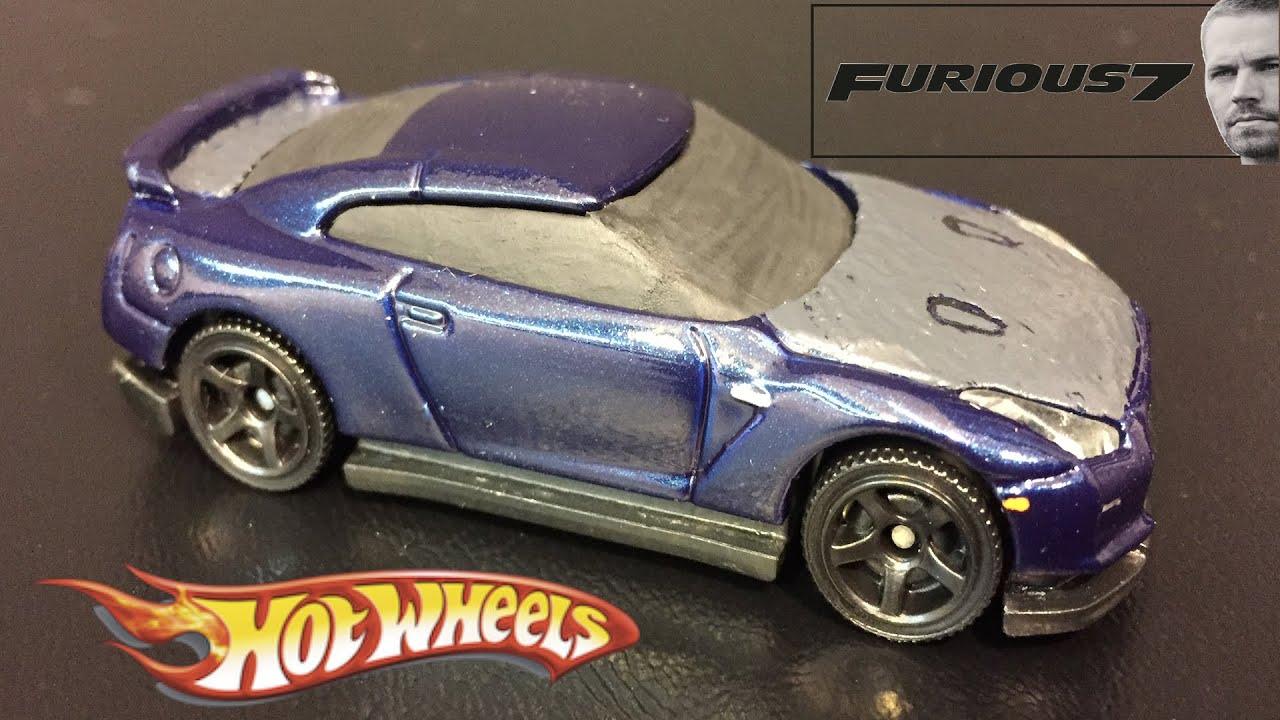 Fast & Furious 7 Brian's Nissan GTR Hot Wheels Custom Car ...