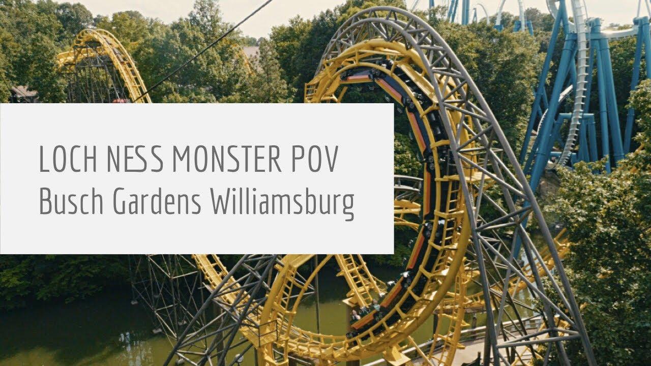 Loch Ness Monster Front Seat on-ride POV Busch Gardens Williamsburg ...