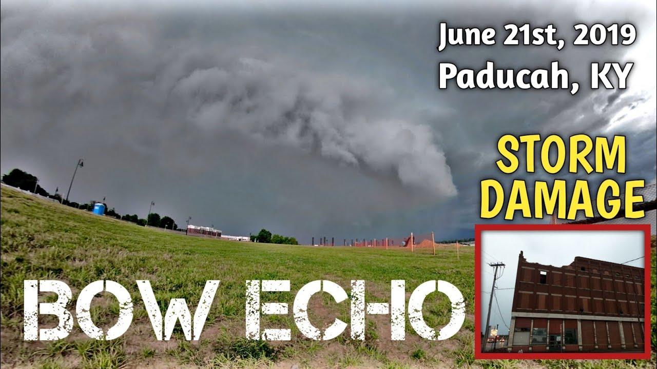 Ominous Shelf Cloud That Damaged Building On 3rd St |Paducah, Ky| June 21, 2019