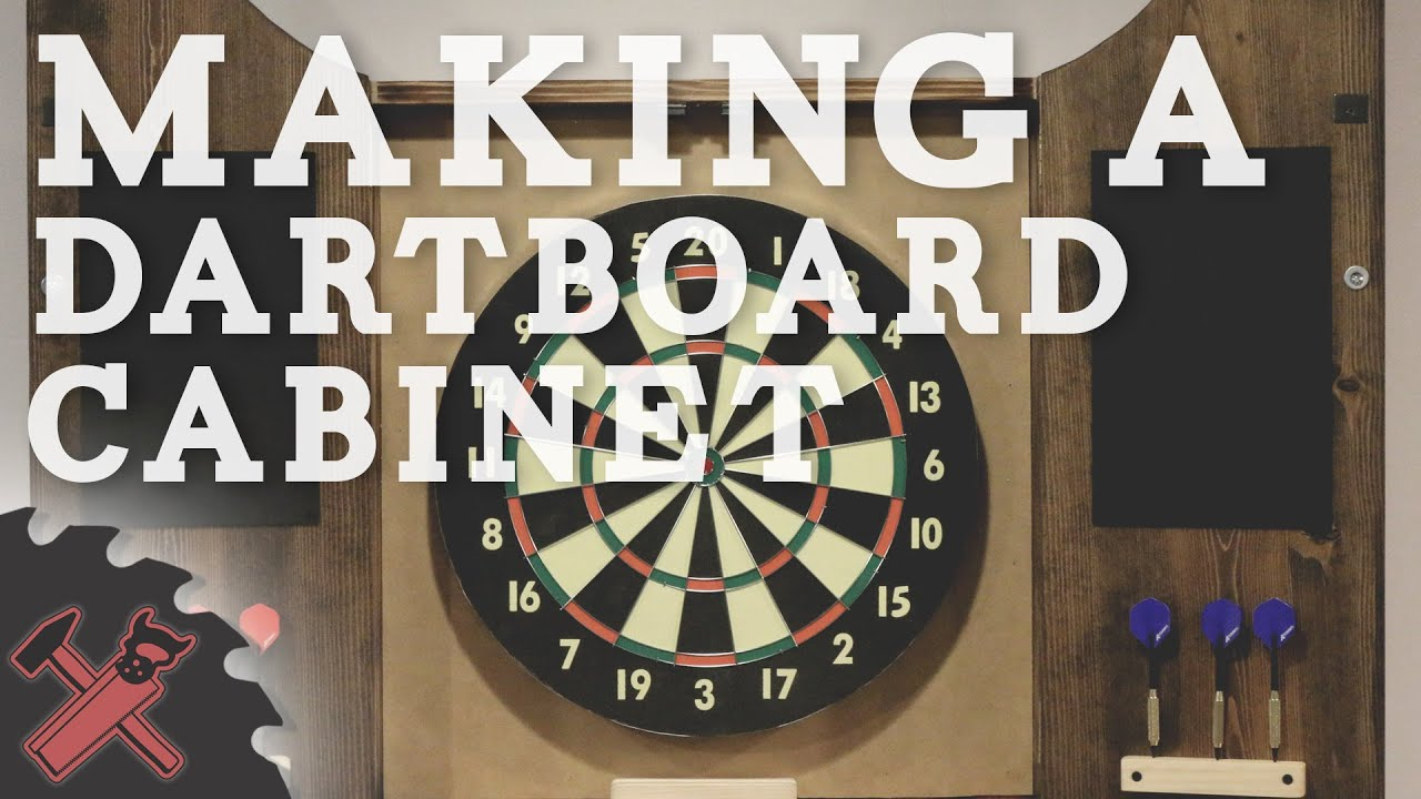 Building A Dartboard Cabinet Youtube