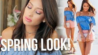 SPRING MAKEUP & OUTFIT!