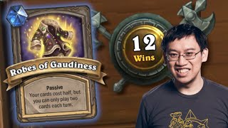 FREE 12 WINS w/ Banned Robes of Gaudiness!!  | Duels | Hearthstone