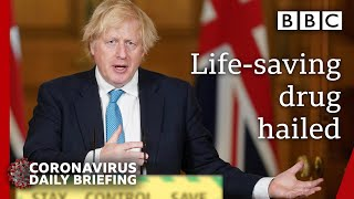 Coronavirus: First life-saving drug proven, dexamethasone - Covid-19 Government Briefing 🔴 BBC