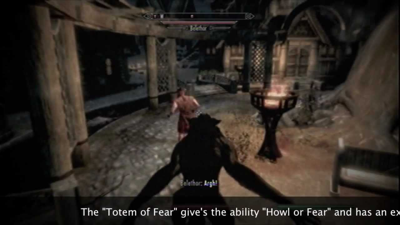 Tes V Skyrim Werewolf Full Guidetotems And Powers Youtube