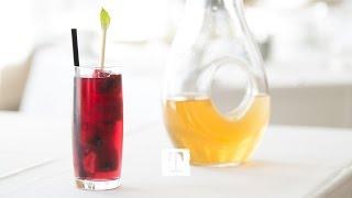 Tea Cocktail: Lemon Verbena Mocktail Ft. Mountain Berry Blend #tealeavesmixology | Tealeaves