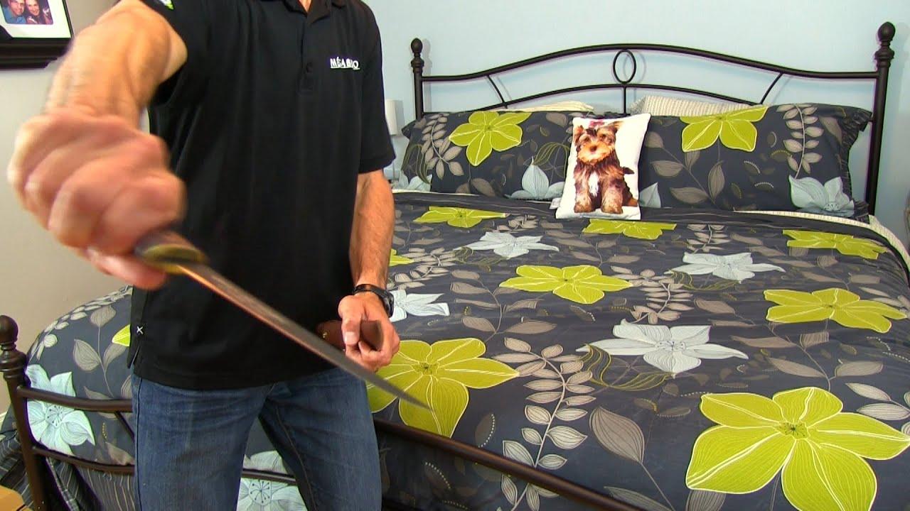 enlever la mousse sur un drap avec un couteau filet youtube. Black Bedroom Furniture Sets. Home Design Ideas