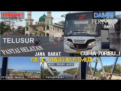 BIS DENGAN PEMANDANGAN TERBAIK | LAUT SEMUA!, Bus DAMRI Perintis Sindangbarang-Pangandaran (1/2)