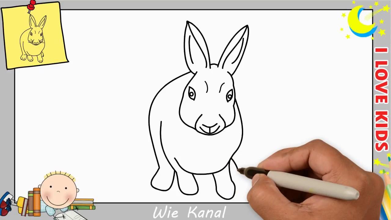 wie zeichnet man einen hasen kaninchen schritt f r schritt f r anf nger kinder 3 youtube. Black Bedroom Furniture Sets. Home Design Ideas