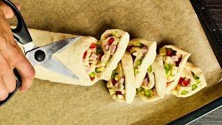 Фото Режем рулет ножницами... Настоящая вкуснота для перекуса или ужина