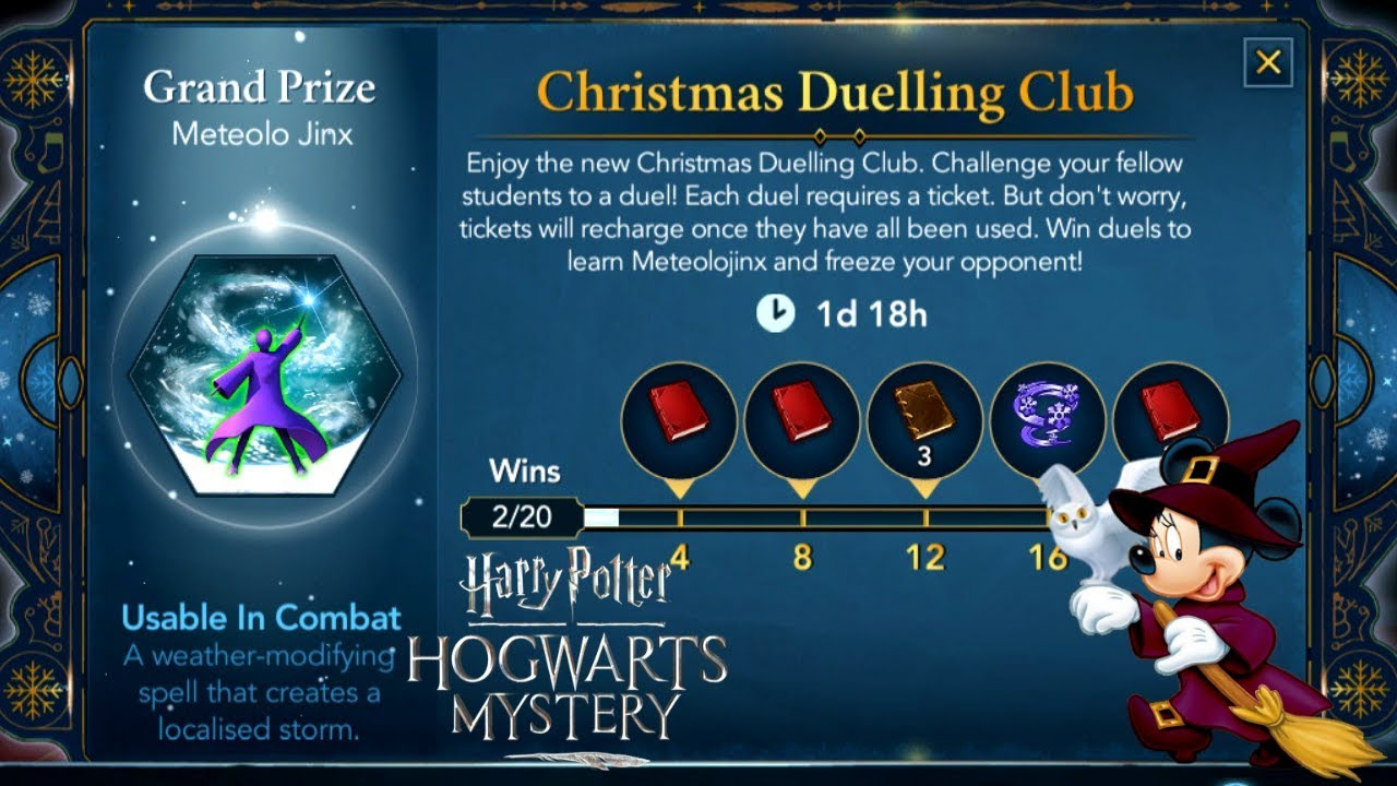 Hogwarts Mystery Christmas 2020 CHRISTMAS DUELLING CLUB! Harry Potter Hogwarts Mystery Game
