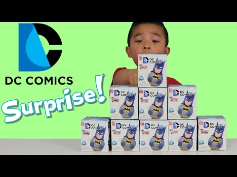 DC Comics Blind Box Surprise Toys Opening Fun With Ckn Toys Batman Superman The Joker