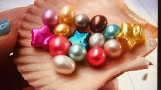 REAL PEARL HUNTER FINDS COLORFUL STARS... WOW....
