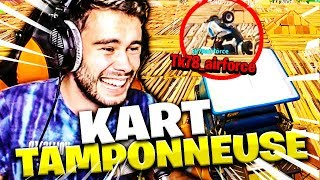 LE PRANK ROYAL A TK78 EN PLEIN KART-TAMPONNEUSE SUR FORTNITE BATTLE ROYALE !!!