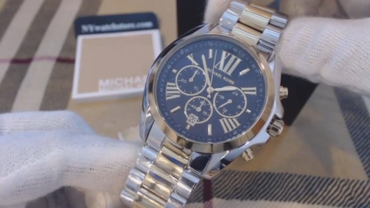 4fbbcebff74b Women s Two Tone Michael Kors Bradshaw Chronograph Watch MK5976 ...