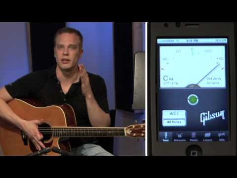 05 How To Tune A Guitar Using A Digital Tuner