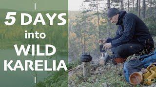 Путешествие по Карелии [Бушкрафт поход] Еда на костре   Северная Ладога   Первозданная природа в 4K