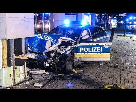 Streifenwagen kollidiert im Einsatz frontal mit PKW - Polizist schwer verletzt | Kerpen 19.01.2019