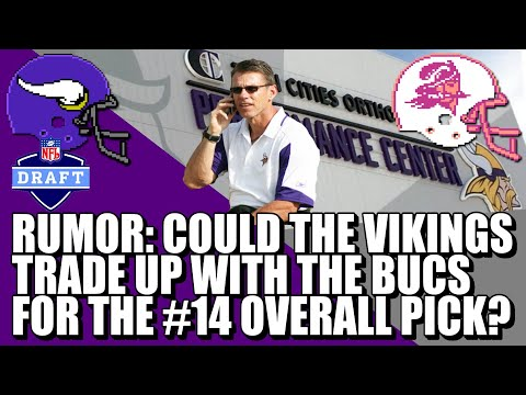 NFL DRAFT RUMOR: Vikings Trading Up For A Wide Receiver? 🤔🤔🤔
