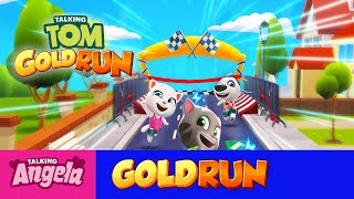 My Talking Angela Gold Run Play In Hallowen for Children Full Episode #1