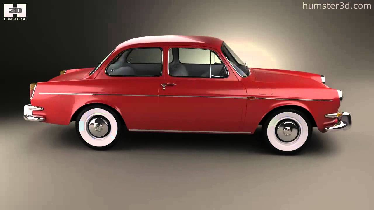 Volkswagen 1500 (Type 3) notchback 1961 by 3D model store Humster3D.com - YouTube