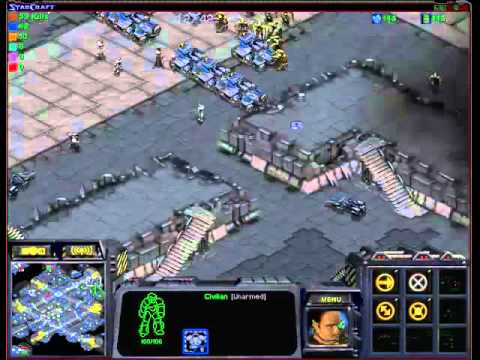 Starcraft Resident Evil Raccon city UMS map part 1