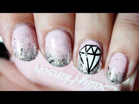 Diamond nail art youtube diamond nail art prinsesfo Images