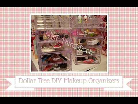 Diyreview (dollar Tree)  Plastic Makeup Organizers