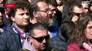Funerali Astori, tutto il discorso di Badelj che ha commosso la piazza e la rete