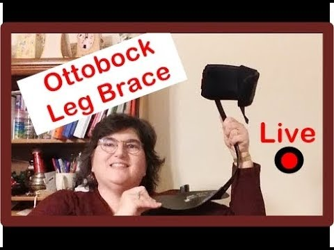 Ottobock leg brace for foot drop from a patient view