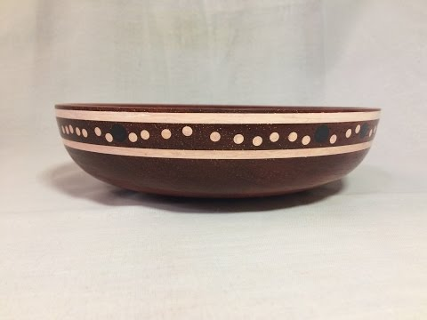 Wood turning - Guide on inlay Milliput epoxy bowl and review of Padauk wood.
