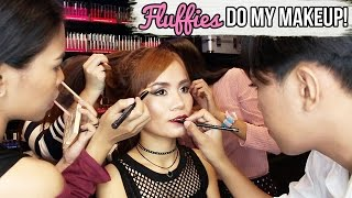 FLUFFIES Do My Makeup Challenge! (using NYX Cosmetics) ♥