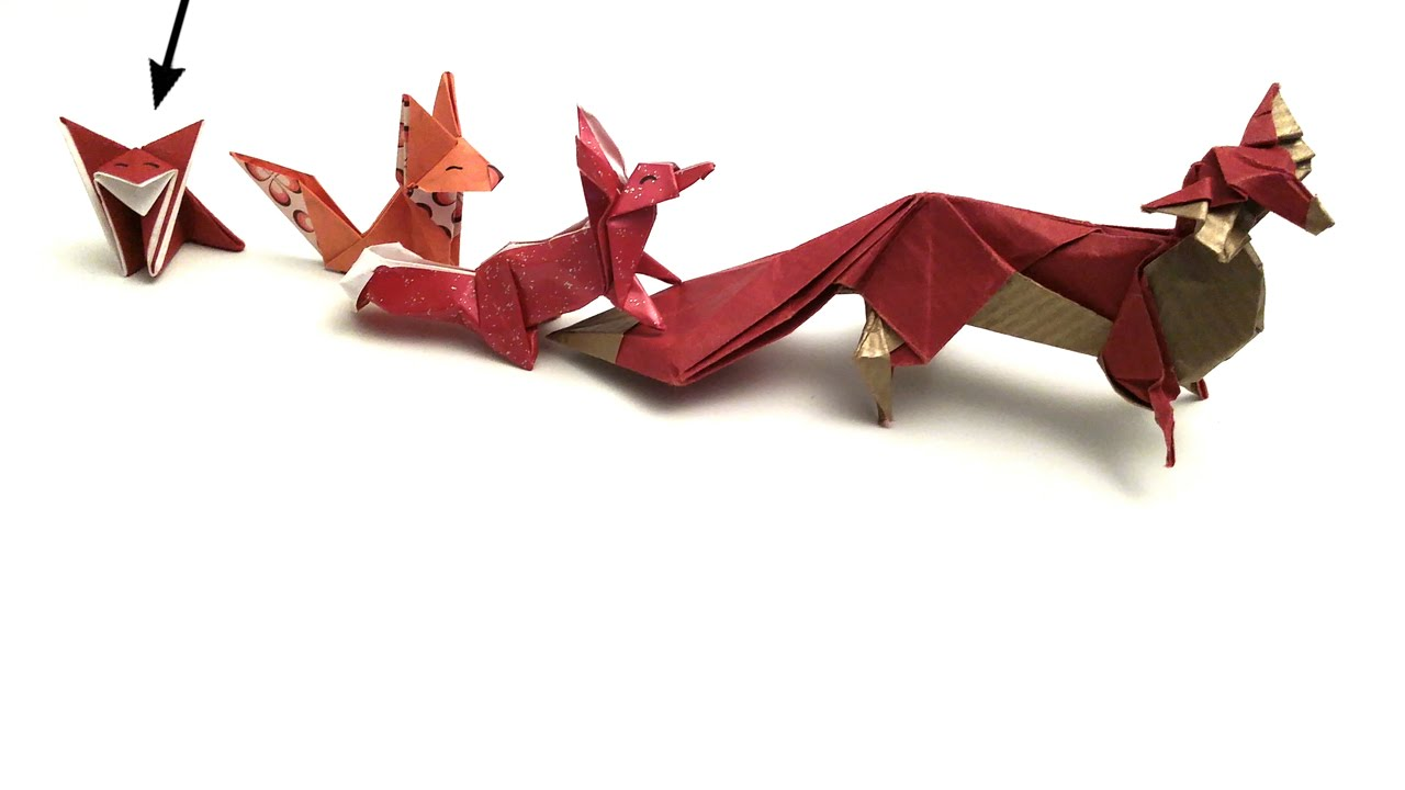 cute little fox origami tutorial for kids youtube