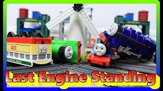 Sodor Demolition Derby THOMAS AND FRIENDS TRACKMASTER|Last Engine Standing #19 Toy Train CRASHES