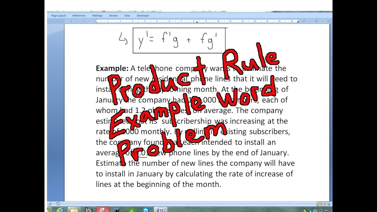 writing a rule for a word problem