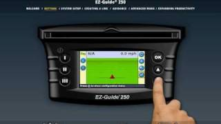 Trimble EZ-Guide 250 demo (anglicky)