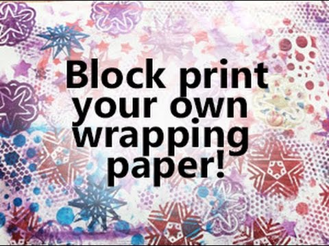 Block Printing Wrapping Paper - Simple & Easy Christmas crafts - YouTube