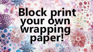 Simple & Easy Christmas Crafts - Block Printing Wrapping Paper
