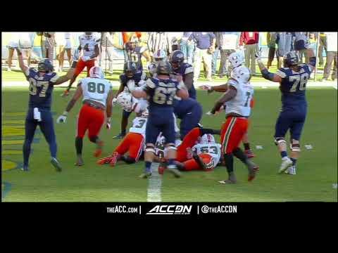 Miami vs  Pittsburgh College Football Condensed Game 2017