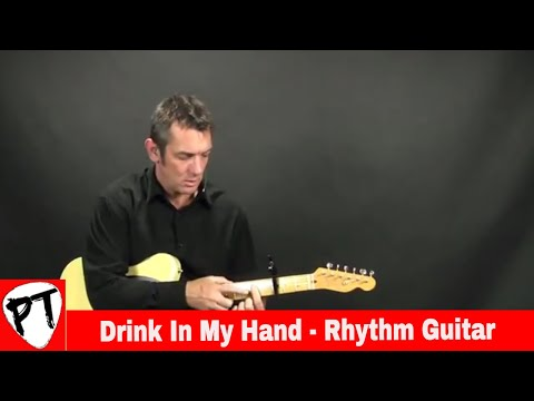 How to Play - Drink In My Hand - Eric Church - country guitar lesson - Main intro riff