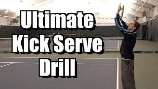 TENNIS KICK SERVE | Tennis Drill How To Hit A Kick Serve - Tennis Evolution