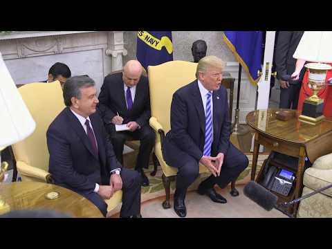 President Trump Trump Welcomes President Mirziyoyev of the Republic of Uzbekistan