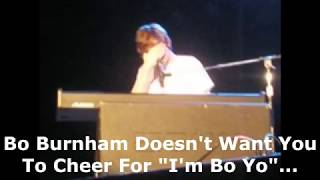 Bo Burnham doesn't want you to cheer for