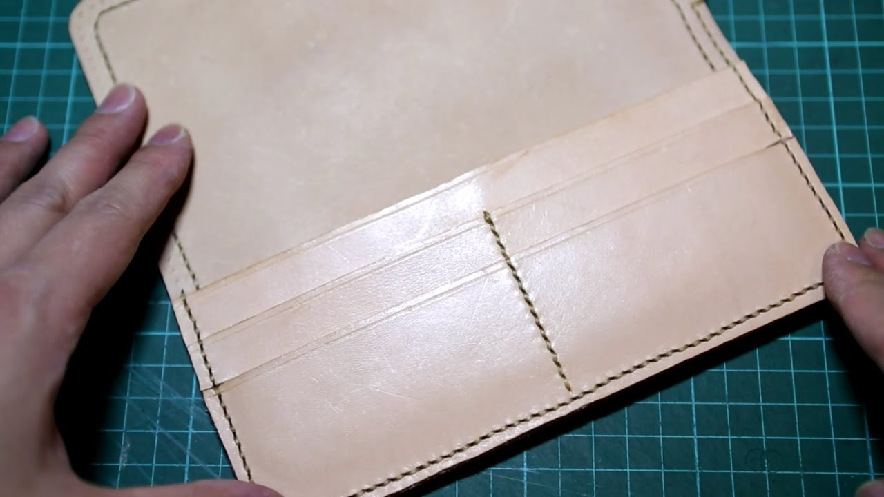 Making a Leather Biker Wallet - Part 2 Right Compartment - YouTube