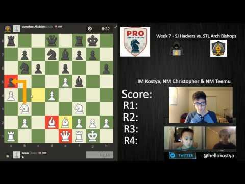 PRO Chess League   Week 7   SJ Hackers vs