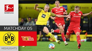 Borussia Dortmund Union Berlin 4 2 Highlights Matchday 5 Bundesliga 2021 22