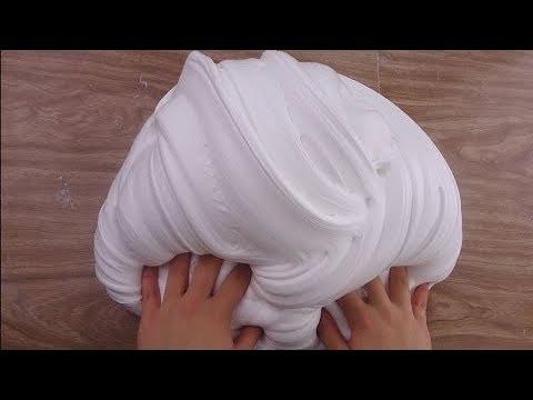 Простой рецепт слайма Лизун из шампуня крема пены для бритья